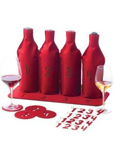 Blind Wine Tasting Kit. Great idea for a fun date night in.