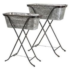 Find Blaklin Galvanized Planters on Stand, Set of 2 in the Outdoor Decor category at Tractor Supply Co.Use the Blaklin Galvanized Planters on St Galvanized Planters, Metal Wall Planters, Urn Planters, Wood Planter Box, Window Planter Boxes, Large Planters, Galvanized Metal, Plastic Planter, Plastic Pots