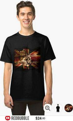 Skull Flag Classic Tshirt #artbyurte