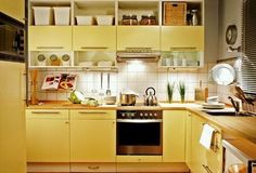 Yellow Kitchen Cabinets Color