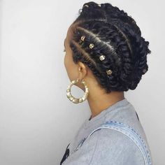 STYLECASTER | Protective Hairstyles to Try | Golden Updo