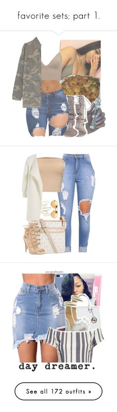 """""""favorite sets; part 1."""" by originalimanim ❤ liked on Polyvore featuring Yves Saint Laurent, Michael Kors, B Free, Burberry, BP., Linda Farrow, Clinique, SheaMoisture, Topshop and Kate Spade"""