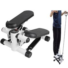 ixaer Elliptical Trainer Household Mini Multifunctional Stepper Exercise Machine Durable Equipment with 2 Bands Shipping from USA * Have a look at this excellent product. (This is an affiliate link). Exercise Machine, Workout Machines, Action Move, Elliptical Trainer, Upper Body, Multifunctional, Fun Workouts, Cardio, Trainers