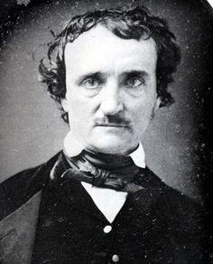 (1809-1849) Foi um autor, poeta, editor e crítico literário americano, integrante do movimento romântico americano. Conhecido por suas histórias que envolvem o mistério e o macabro, foi um dos primeiros escritores americanos de contos e é geralmente considerado o inventor do gênero ficção policial. Os poemas mais famosos são: 'O corvo', 'Os sinos', 'Os Crimes da Rua Morgue', 'Annabel Lee'. ―Edgar Allan Poe