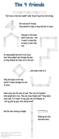 4 friends and the lame man ~ the printed directions for the great lesson on Jesus healing the lame man video!: