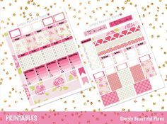 Spring Flowers | Printable Planner Stickers | Erin Condren - Simply Beautiful Plans