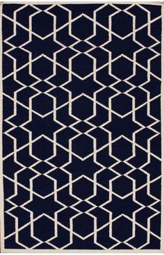 Rugs USA Kilim Trellis Denim Rug