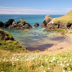 Soarmill, South Devon At high tide swim around the little island, and at low tide explore the many caves along the cliff bottom. Afterwards head up to the nearby Iron Age hillfort at Bolt Tail for spectacular sunsets and the chance to spot dolphins and porpoises.