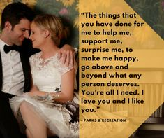 "The <a href=""https://www.huffingtonpost.com/topic/vows"">wedding vows</a> Leslie Knope (Amy Poehler) recited to her on-screen"