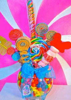 QTY 12 Sweet Stick Candy Kabob Skewers, Edible Favors Centerpiece , Candy Buffet Decor, Candy Arrangement Wedding, Mitzvah,. $39.00, via Etsy.