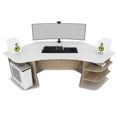 Welcome to the ultimate e-Shop for Gaming Desks. Get your Gaming Desk here, and become a member of the worldwide ProSpec Designs family, that already. Gaming Desk Designs, Corner Gaming Desk, Good Gaming Desk, Gaming Computer Desk, Computer Desks For Home, Pc Gaming Setup, Studio Desk Music, Home Studio Desk, Home Desk
