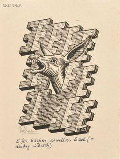 Escher, E is een Ezel, 1953