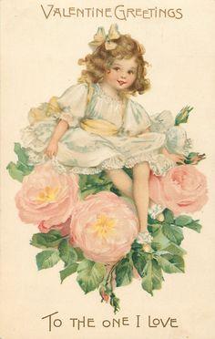 Коллекция картинок: Старинные открытки с детьми от F. Brundage,часть 5