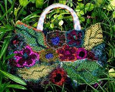 flower garden freeform handbag by freeform by prudence, via Flickr