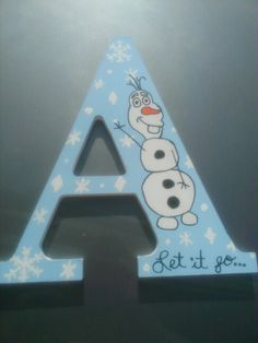 Frozen themed letters and names by A & S Designs - custom made to order - available at www.facebook.com/aandsdesignsforyou