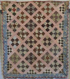 Nine Patch Crib Quilt: Circa 1850; New York