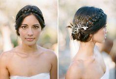 wedding ideas, elegant braided up do