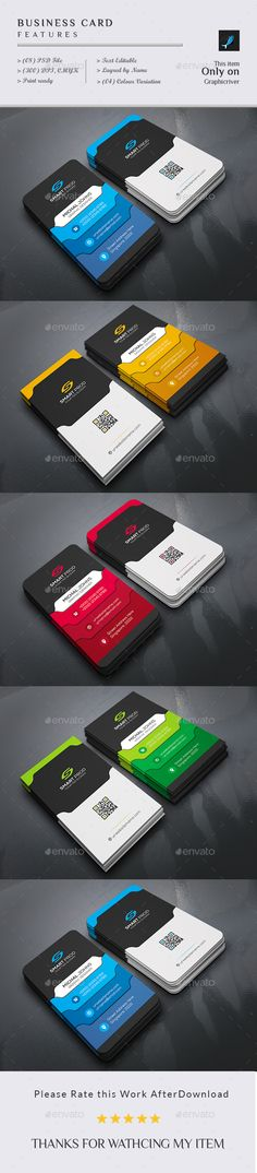 Corporate Business Card Design Template - Business Cards Print Template PSD. Download here: https://graphicriver.net/item/business-card/18996852?ref=yinkira