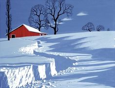 follow me @cushite Path in Snow SERIGRAPH