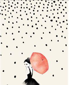 Polka Rain - Dagen poster - Boligcious