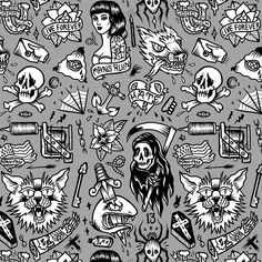 Throwback. #tbt #pattern #illustration #tattoo #tattooflash #design #drawing #art by catsneeze