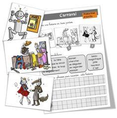 Production d'écrits : Carnaval  Voilà la suite de ma série de production d'écrits pour cette nouvelle période 4 . Le thème : le carnaval ! Je travaille sur cette séance cette semaine .  Pour commander