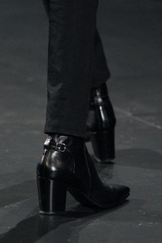 High-heeled boots for men at Saint Laurent Fall-Winter 2015-2016