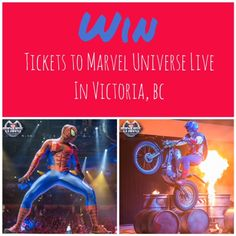 WIN 2 tickets to marvel universe live in Victoria, BC. Marvel Universe Live, Giveaways, Family Travel, Victoria, Movie Posters, Family Trips, Film Poster