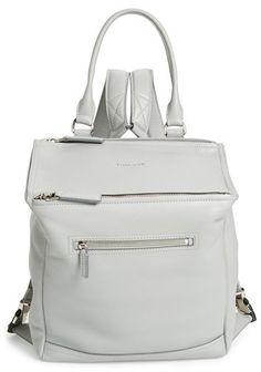 Givenchy  Pandora  Waxy Leather Backpack - Grey e8347e234d83a
