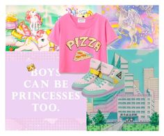"""Pizza"" by flowerpetalp ❤ liked on Polyvore featuring Pink, colorful, pastel, pizza and vibrant"