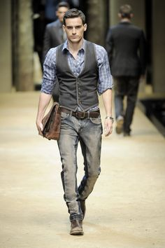 I like the shirt and vest but not the jeans really. Too grungy