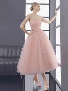 Vestido de Fiesta Rosado 3/4 Tipo Bailarina -- Aire Barcelona