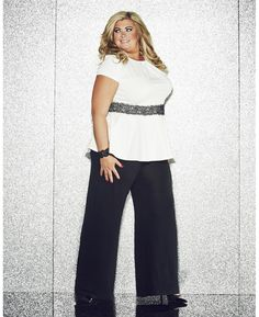 """Gemma Collins"" Gemma Collins Lace Peplum Plus Size Top at Simply Be"