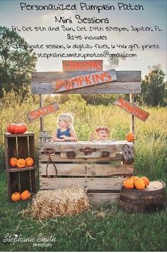fall mini session photos | Cute fall mini session idea Love the stand I think I can do that at very little to no cost! ;)