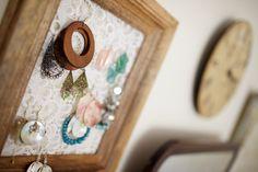 lace jewelry organizer