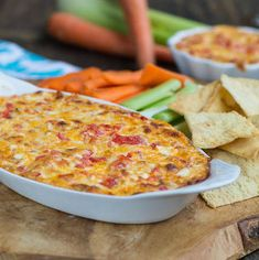 Baked Pimiento Cheese Dip - If you love Southern pimento cheese, then you are sure to love this hot and bubbly baked version.