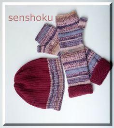 Kit para tejer en tricot un gorro y unos mitones, combinando lanas DROPS Fabel Print y Cotton Merino. Disponible en nuestra web http://www.senshoku.es/shop/article_KIT13/KIT-GORRO-Y-MITONES.html