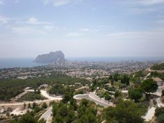 View (to Calpe) from top of hill-Benissa, Spain