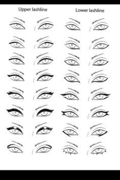 Permanent makeup eyeliner and eyelash enhancement – My hair and beauty Makeup 101, Makeup Inspo, Beauty Makeup, Makeup Drawing, Eye Makeup Art, Eyeliner Tattoo, Makeup Tattoos, Different Eyeliner Styles, Eyeliner Designs