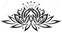 flor de loto dibujo - Buscar con Google
