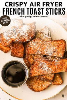 These air fryer French toast sticks take just 15 minutes to make, and I love how they get so perfectly crispy. I personally like to dip them in maple syrup or sprinkled with powdered sugar. You can use any gluten free or paleo bread, or I have a yummy paleo bread loaf recipe on my blog if you want to make everything homemade! Egg Free Recipes, Primal Recipes, Brunch Recipes, Breakfast Recipes, Whole30 Recipes, Savory Breakfast, Breakfast Items, Low Carb Breakfast, Breakfast Buffet