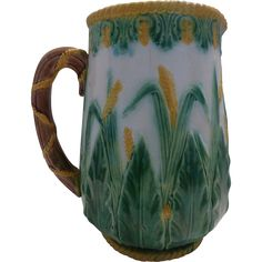 George Jones Majolica Pitcher