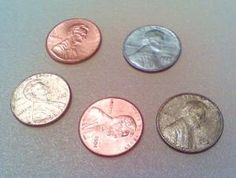 You can use chemistry to change the color of copper pennies to silver and gold. - Anne Helmenstine