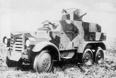 "IJA Armored car ""Chiyoda"", 1932. The most modern 6-wheel heavy AC in service in China. It was based on the 6-wheeled Type Q truck."