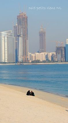 The beach in Abu Dhabi. Make a splash in Abu Dhabi! Swim in shimmering turquoise waters, relax on amazing white beaches or connect with a sailing legacy that stretches back for centuries.