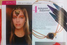 PUBLICATION dans VOICI !   Le superbe headband bijou noir baroque Laure Mory bijoux.  #headband #serretete #bandeaucheveux #accessoirecheveux #bijoudetete     http://www.jolietete.fr/headband-bijou-noir-baroque