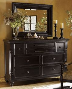 Refinished Antique Dresser | Tommy Bahama Home Gray Kingstown Malabar Panel Bedroom Collection ...