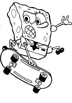 spongebob basketball coloring pages  coloring Pages  Pinterest