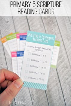 Primary 5 Lesson Helps. Help the children read their scriptures with these Doctrine and Covenants & Church History Scripture Reading Cards. via @https://www.pinterest.com/littleldsideas/