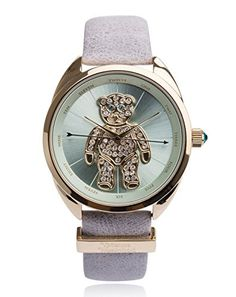 Vivienne Westwood Womens Crazy Bear Analog Display Swiss Quartz Grey Watch ** Details can be found by clicking on the image. Grey Watch, Affordable Watches, Feel Unique, Olivia Burton, Vivienne Westwood, Luxury Watches, Quartz, Note, Bear